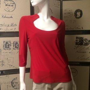 Red Joseph Ribkoff 3/4 length sleeve top